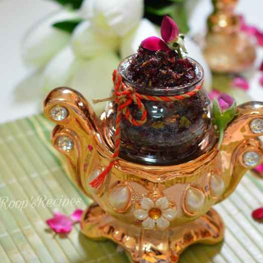 How to make Gulkand Or Rose Petal Jam