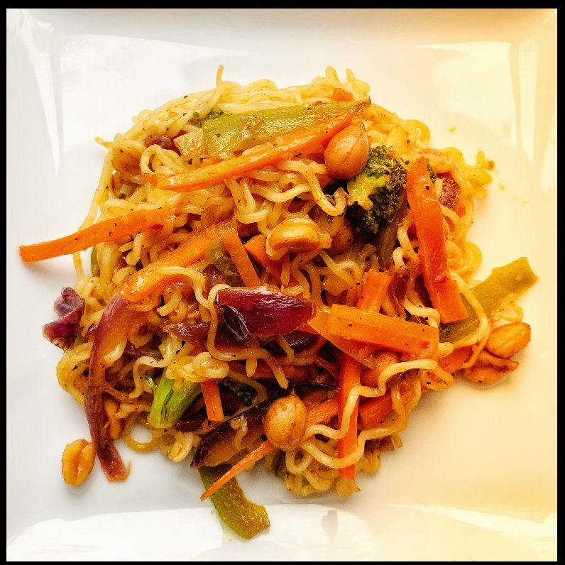Photo of Crunchy hakka noodles with peanut dip by Roopa R at BetterButter