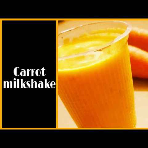 Photo of Carrot milkshake by Roopasree Rao at BetterButter