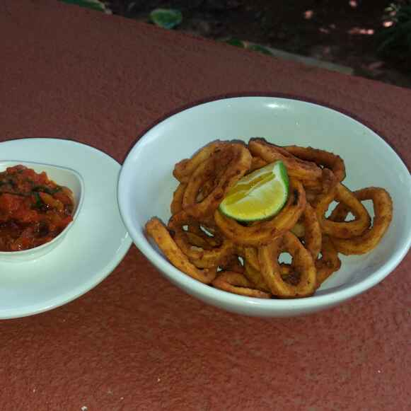 Photo of Crispy Calamari with Chilli- Garlic Tomato Sauce by Ruchelle Martins at BetterButter