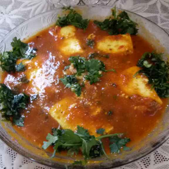 How to make Paneer masala with tomato gravy