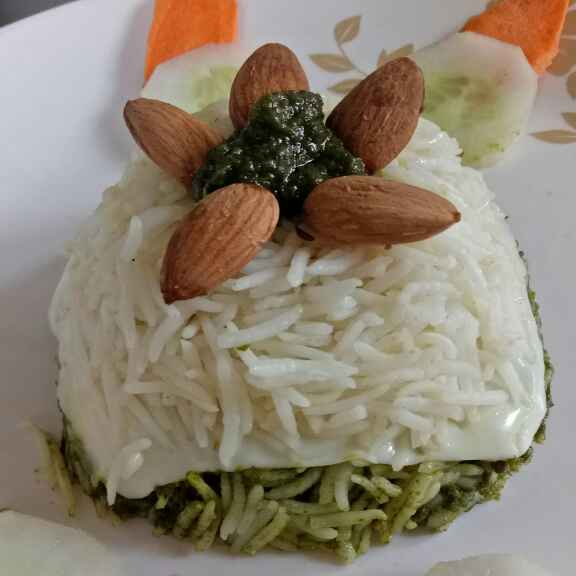 How to make Spinach cheese rice