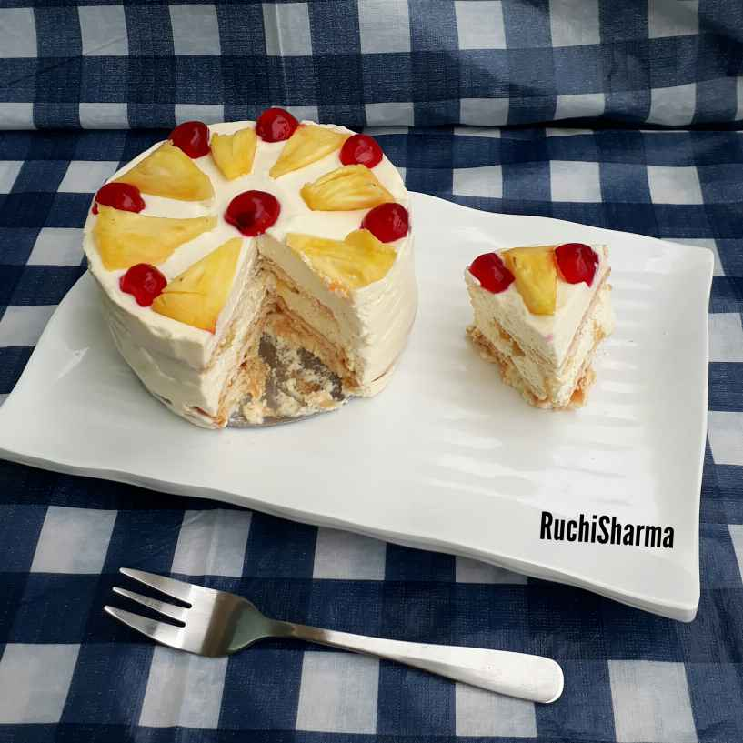 Photo of No-bake Pineapple Icebox Cake by Ruchi sharma at BetterButter