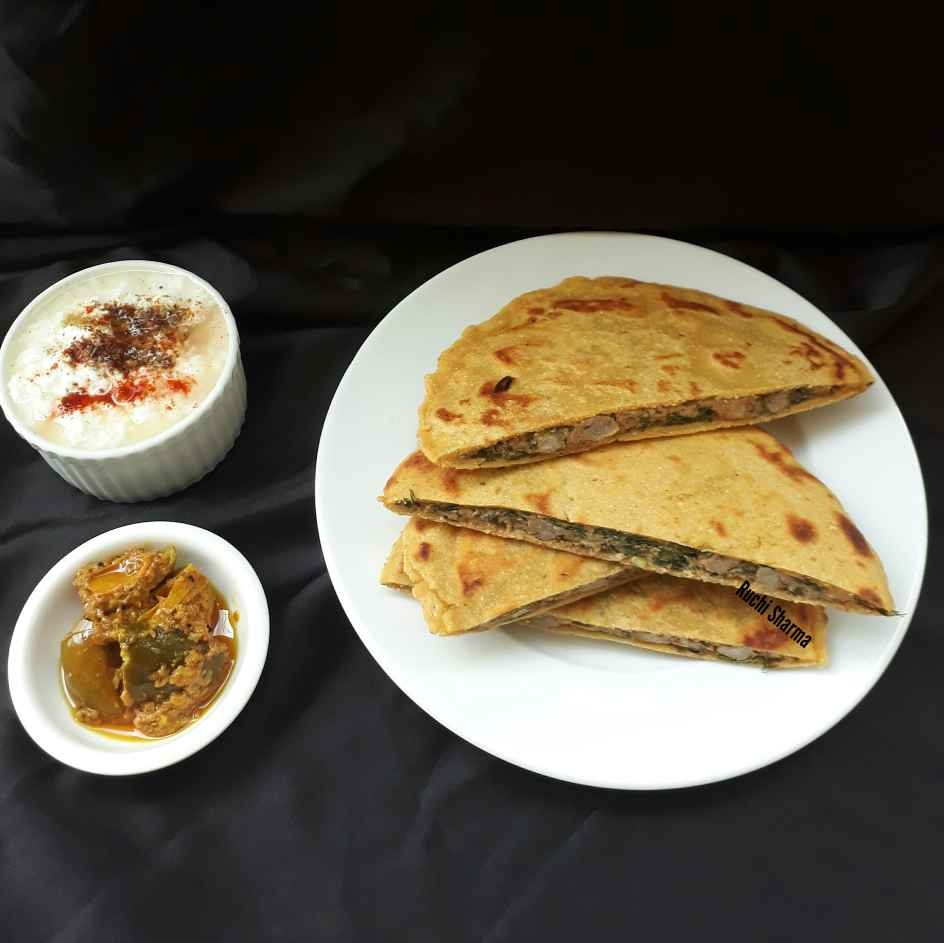 Photo of Beduan Roti/Makki roti with spicy arbi stuffing by Ruchi sharma at BetterButter