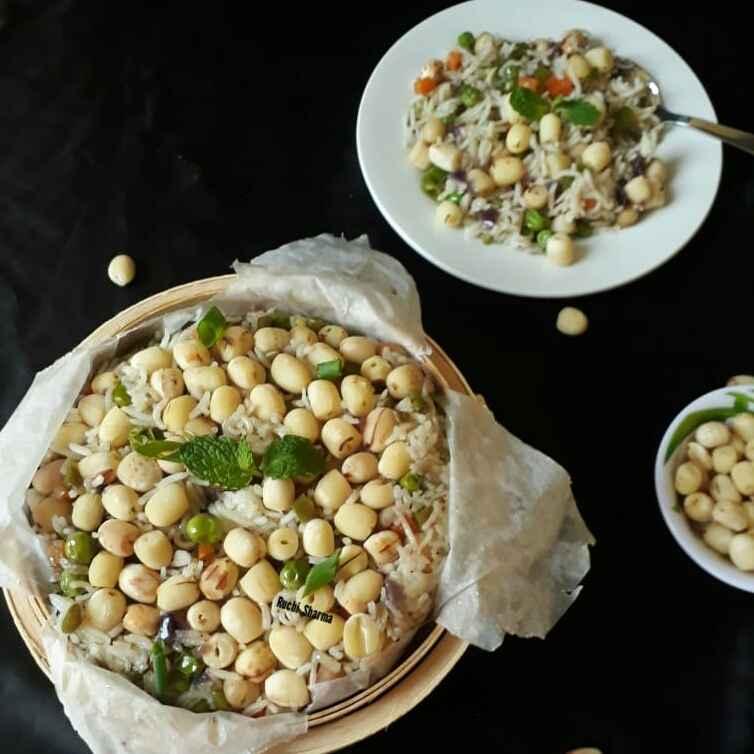 How to make Lotus Rice(Dry Lotus seed Rice)