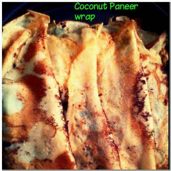 How to make Coconut paneer wrap
