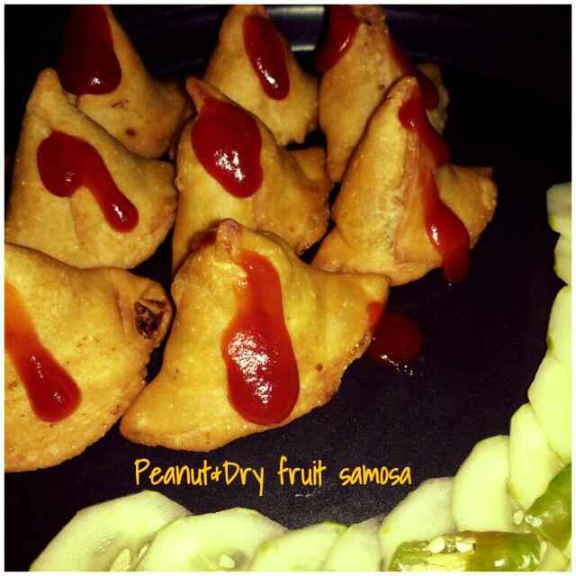 How to make Peanut and dry fruit samosa