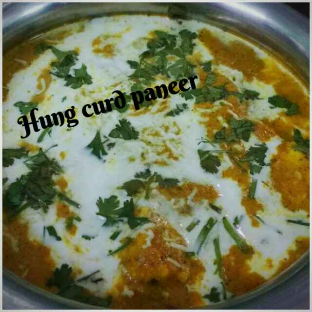 How to make Hung curd paneer