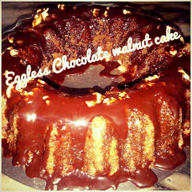 Photo of Eggless chocolate walnut cake by Ruchi Srivastava at BetterButter