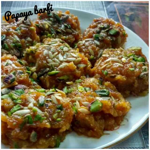 Photo of Papaya barfi by Ruchi Srivastava at BetterButter