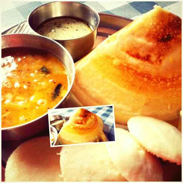 Photo of Dosa Idli Sambhar and Coconut Chutney by Ruchi Srivastava at BetterButter