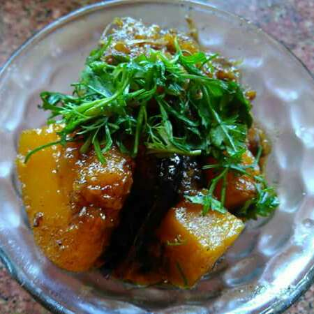 Photo of Khatta Meetha Kaddu (Sweet and Sour Pumpkin) by Ruchiajay Mahant at BetterButter