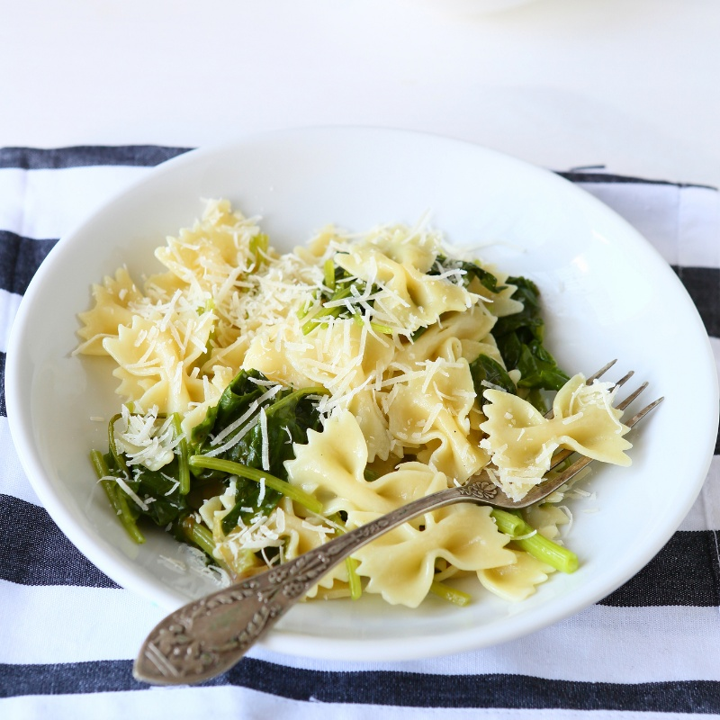 How to make Spinach and cheese pasta