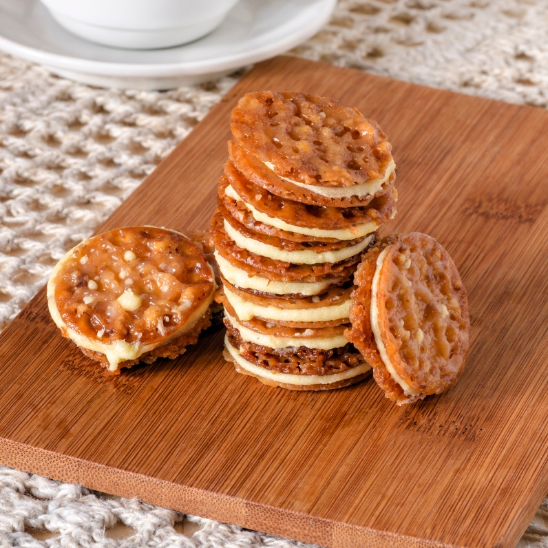 Photo of Caramel Florentines by Ruchira Hoon at BetterButter