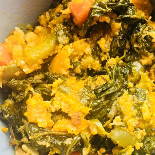 How to make Pui Saag Chingri Chorchori