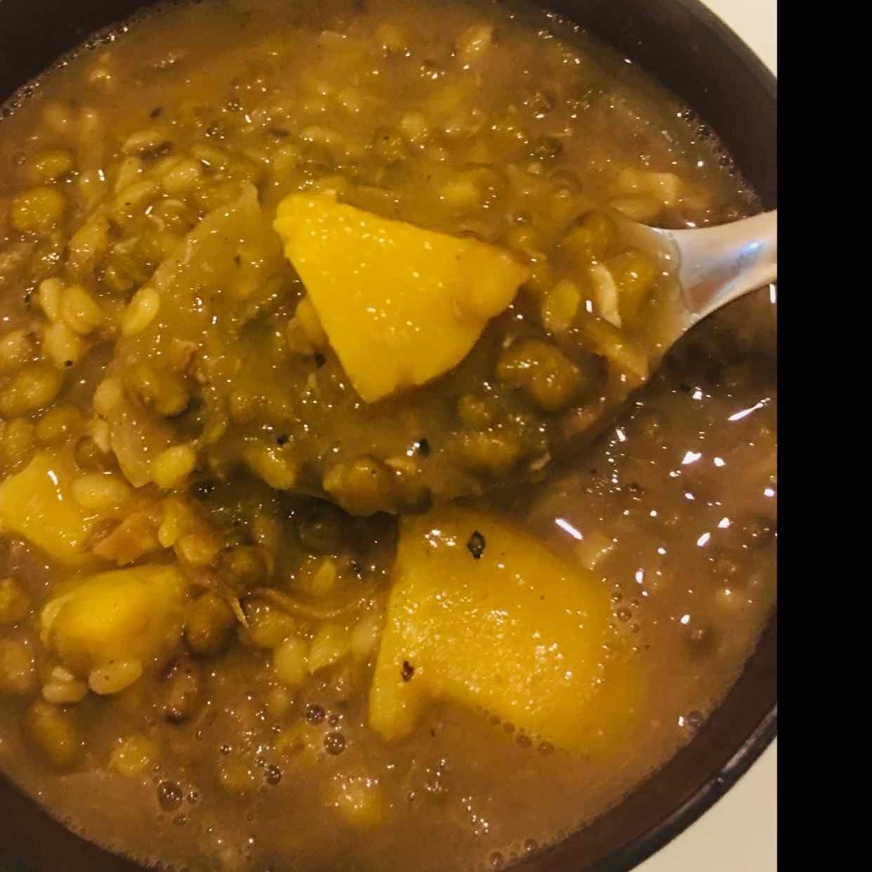 Photo of Green Gram Sweet Potato Soup by Runa Ganguly at BetterButter
