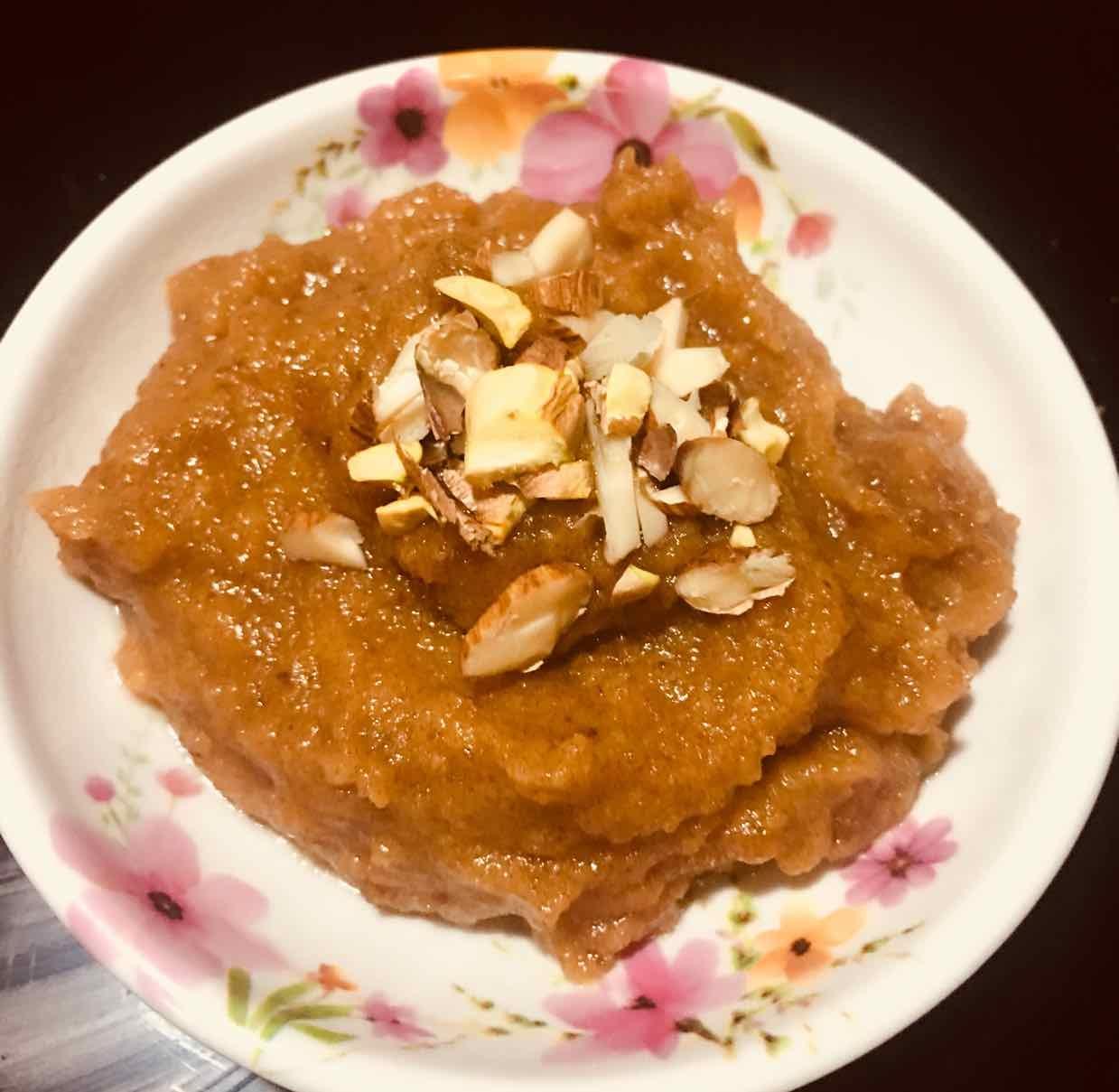 How to make dates-lentil halwa
