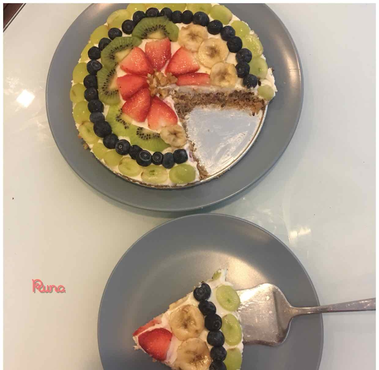Photo of fresh fruit cheese cake(no bake) by Runa Ganguly at BetterButter