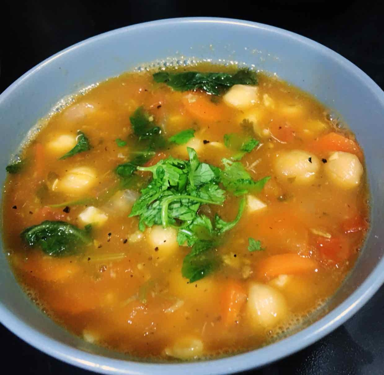 How to make Moroccan Tomato Chickpea Soup
