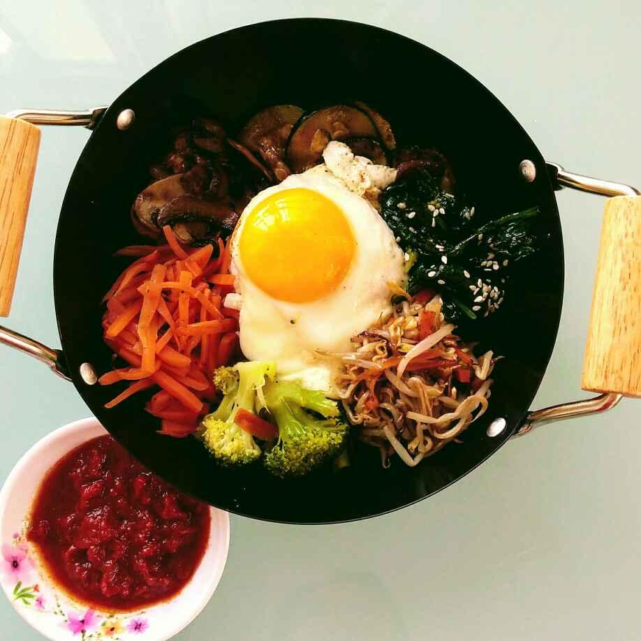Photo of Korean Bibimbap( mixed rice dish) by Runa Ganguly at BetterButter