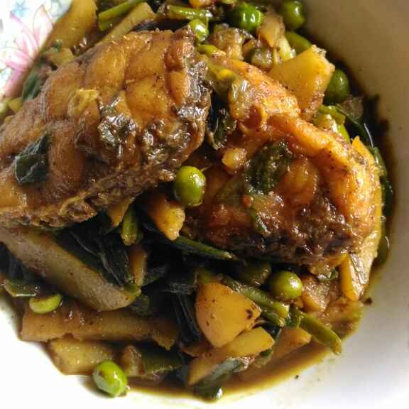 Photo of Mixed veg with fish by Runu Chowdhury at BetterButter