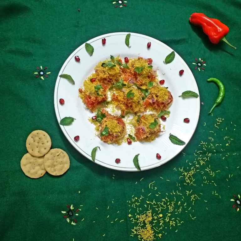 Photo of Mexican fusion sev puri by Rupa Thaker at BetterButter
