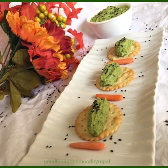 Photo of Edamame Dip with Crackers by Rupal Patel at BetterButter
