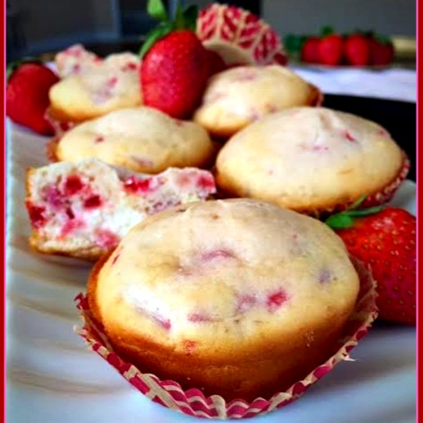 Photo of Strawberry-Cheesecake Muffins by Rupal Patel at BetterButter