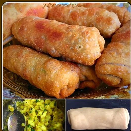 How to make Puri-Bhaji SpringRolls
