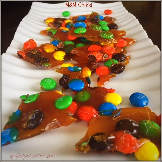 How to make M&M's Chikki