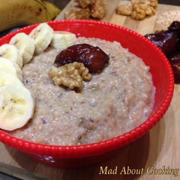 How to make Dates Jaggery Porridge – Healthy Breakfast
