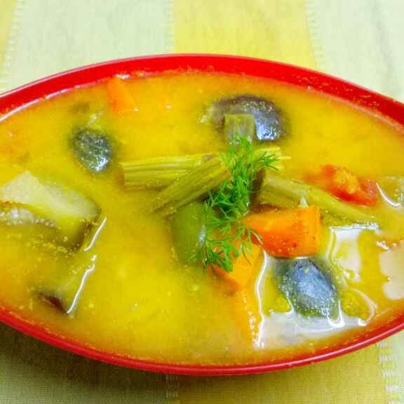 How to make Dal coconut curry
