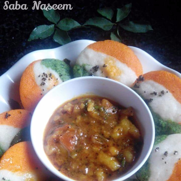 Photo of Tricolor Idlis by Saba Naseem at BetterButter