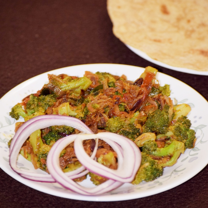 How to make Broccoli Pepper Fry Recipe  Protein Rich Side Dish