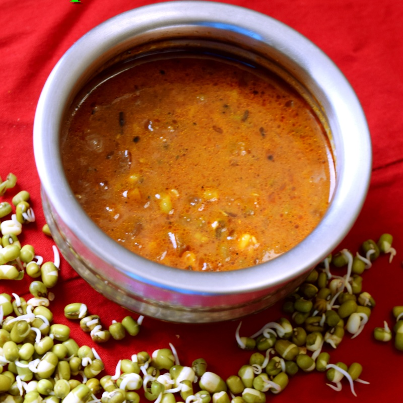 How to make Andhra Style Sprouts Kuzhambu