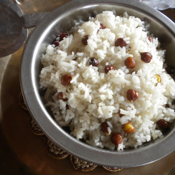 Photo of Bhutay ko baath (fried rice) with Kalo (black) channa-  a popular Nepali comfort food by Sabina Saby Tamang at BetterButter
