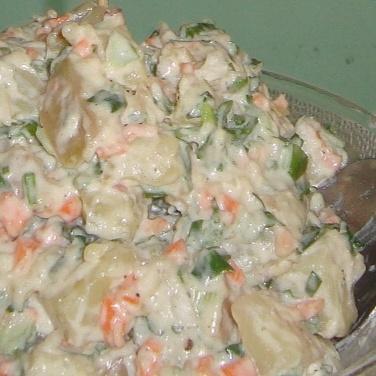 How to make Spicy creamy potato salad