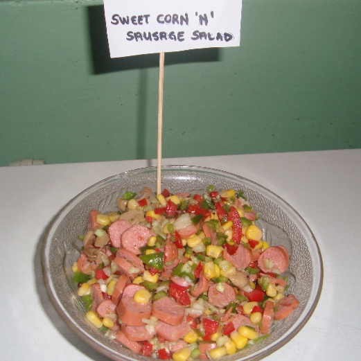 How to make Sausage and sweet corn salad
