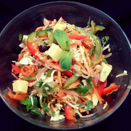 Photo of Bell peppers and cheese salad by Sabrina Yasmin at BetterButter