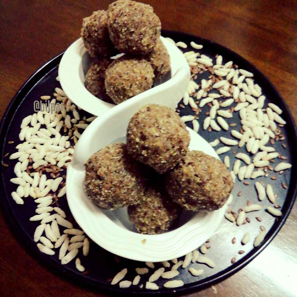 Photo of Puffed rice and flax seeds ladoo by Sabrina Yasmin at BetterButter