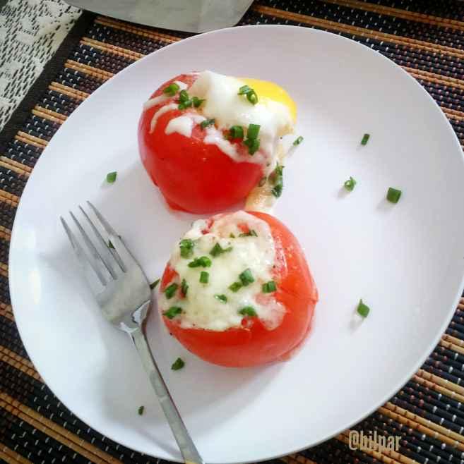 Photo of Egg stuffed Tomato by Sabrina Yasmin at BetterButter