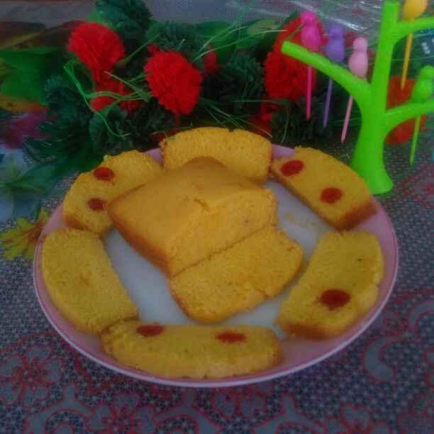 How to make Eggless Custard Cake