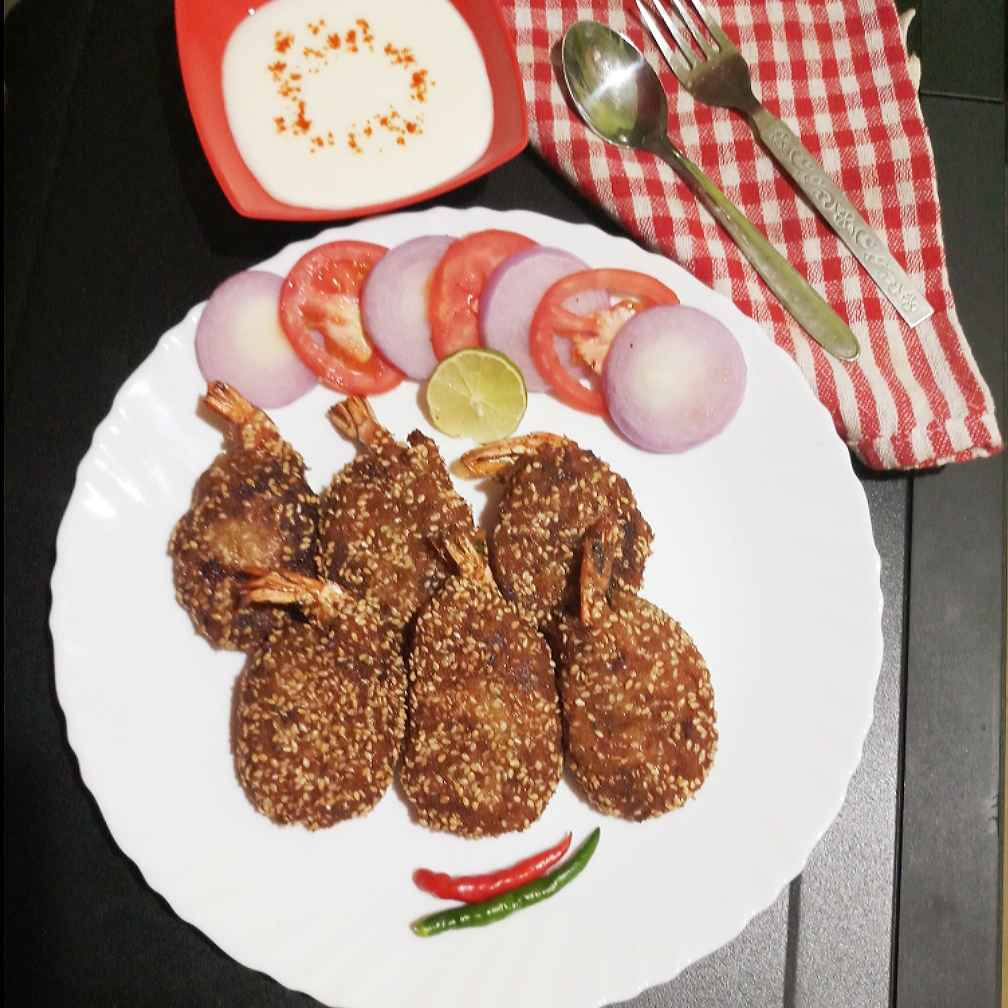 How to make Yam prawn cutlet
