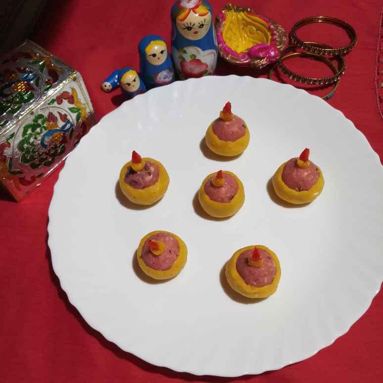 Photo of Coconut-cashew diya by Sadhana Dey at BetterButter