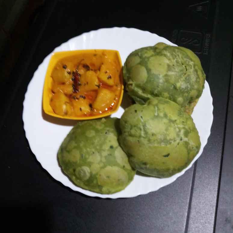 Photo of Green kachori by Sadhana Dey at BetterButter