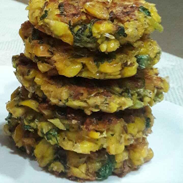 Photo of Sweet Corn:corn::corn:vadas shallow fried by Sadhana Khedekar at BetterButter