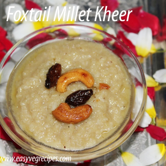How to make Foxtail Millet Kheer