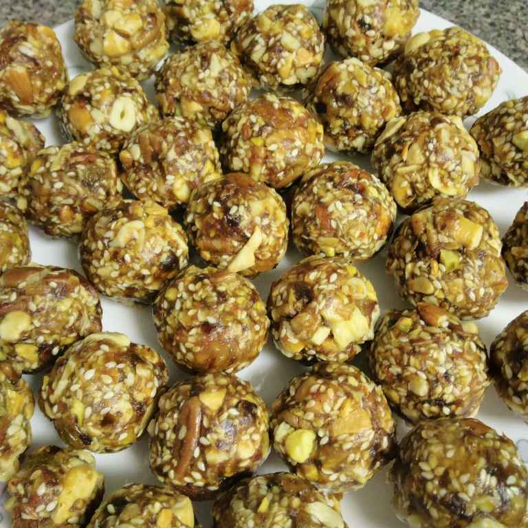 How to make Dry fruits laddu