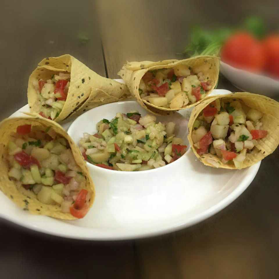 Photo of Papad Cone Chaat by Saima Baig at BetterButter