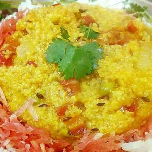 How to make Vegetable daliya